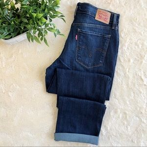 Levi's medium wash 505 straight leg jeans 29